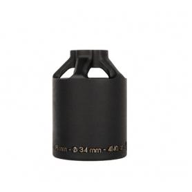 Paire de Pegs Ethic 12 std Acier 48mm noir