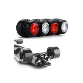 4 feux LED de sécurité pour skateboards électriques