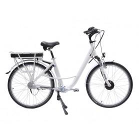 """E-Cardan 26"""" Blanc - Vélo à assistance électrique"""